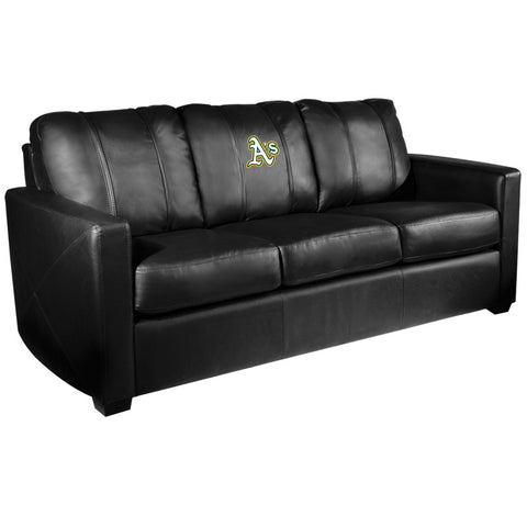 Silver Sofa with Oakland Athletics Secondary