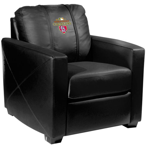 Silver Club Chair with St Louis Cardinals Champs 2011