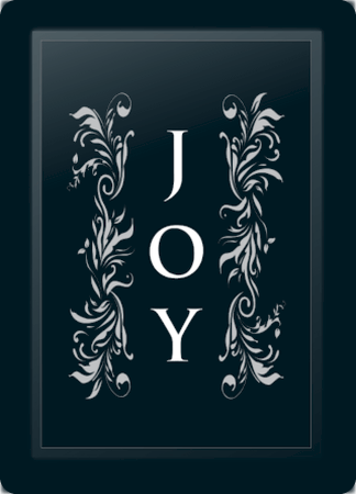 Joy Floral Vertical Silver
