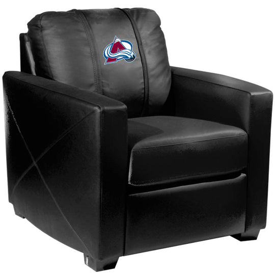 Silver Club Chair with Colorado Avalanche Logo