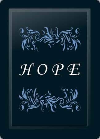 Hope Floral Horizontal Blue