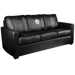 Silver Sofa with Toronto Maple Leafs Logo