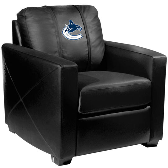 Silver Club Chair with Vancouver Canucks Logo