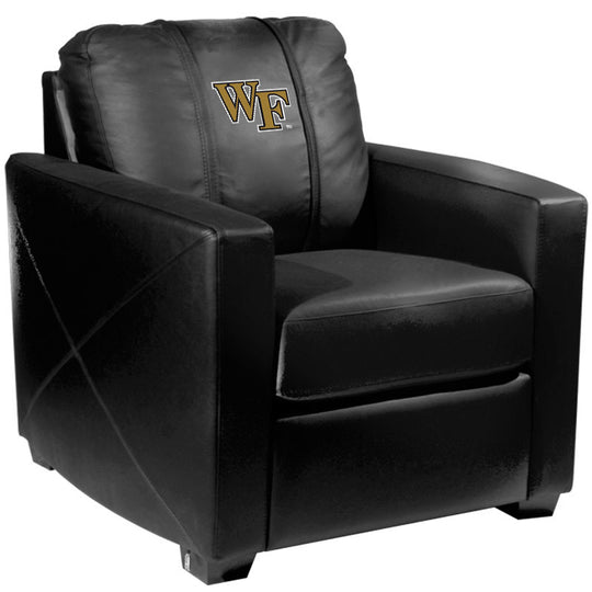 Silver Club Chair with Wake Forest Demon Deacons Logo