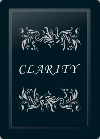 Clarity Floral Horizontal Silv