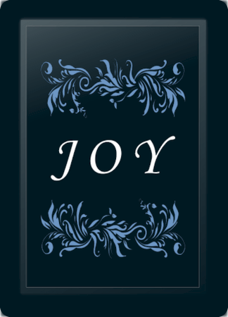 Joy Floral Horizontal Blue