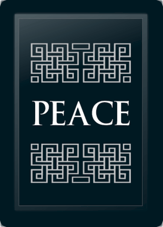 Peace Deco Horizontal Silver