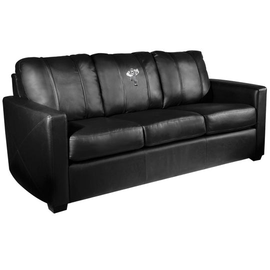 Silver Sofa with Northern Arizona University Lumberjacks Logo