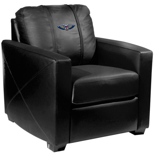 Silver Club Chair with New Orleans Pelicans Primary Logo