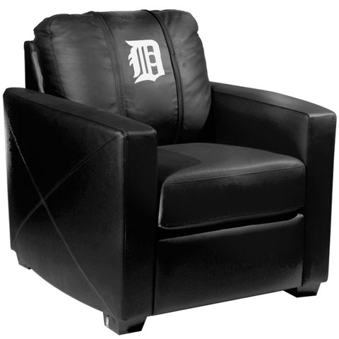 Silver Club Chair with Detroit Tigers White