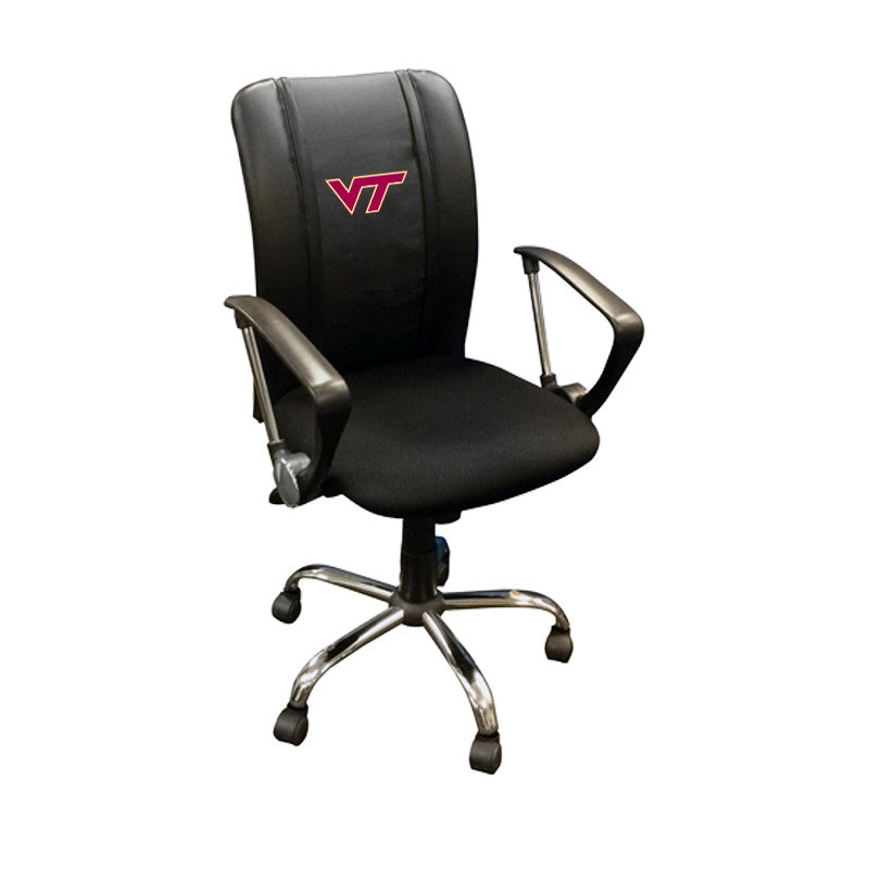Curve Task Chair with Virginia Tech Hokies Logo