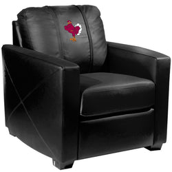 Silver Club Chair with Virginia Tech Hokies Stand Logo