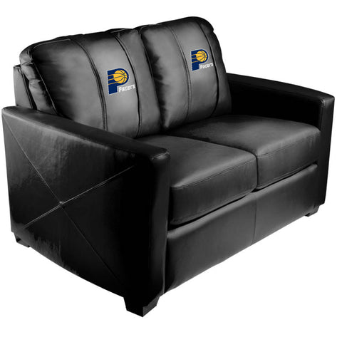Silver Loveseat Indiana Pacers Logo