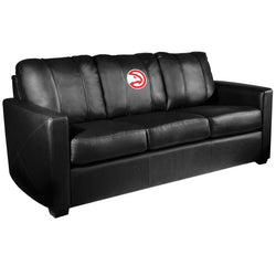 Silver Sofa with Atlanta Hawks Logo