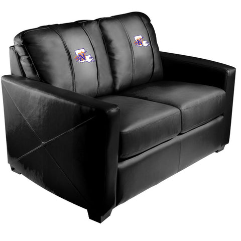 Silver Loveseat with Northwestern State Demons Logo