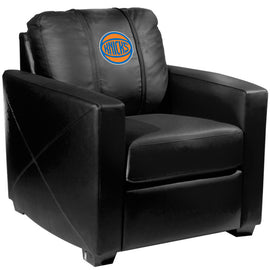 Silver Club Chair with New York Knicks Secondary