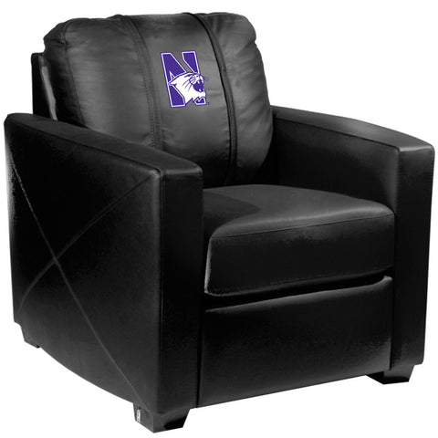 Silver Club Chair with Northwestern Wildcats Logo
