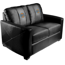 Silver Loveseat with New York Knicks Secondary