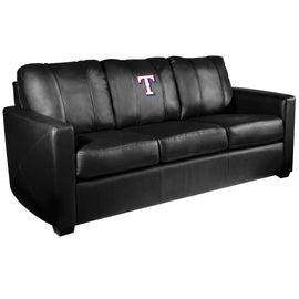 Silver Sofa with Texas Rangers Secondary