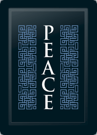 Peace Deco Vertical Blue