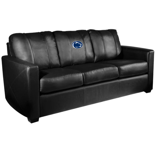 Silver Sofa with Penn State Nittany Lions Logo