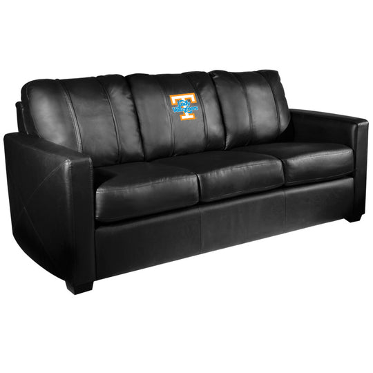 Silver Sofa with Tennessee Lady Volunteers Logo