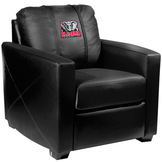 Silver Club Chair with Alabama Crimson Tide Elephant Logo