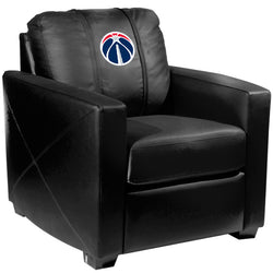 Silver Club Chair with Washington Wizards Primary Logo