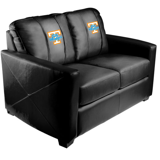 Silver Loveseat with Tennessee Lady Volunteers Logo