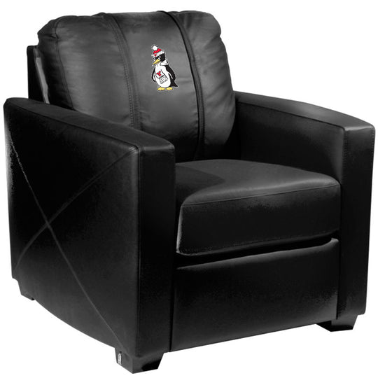 Silver Club Chair with Youngstown State Penguins Logo