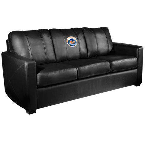Silver Sofa with New York Mets Logo