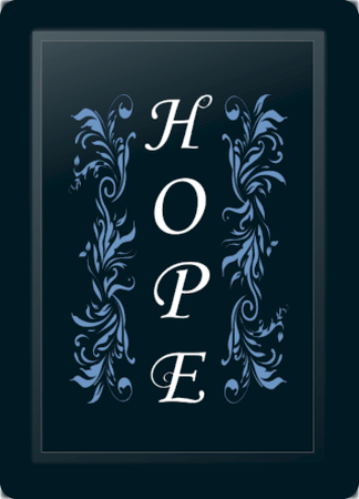 Hope Floral Vertical Blue