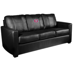 Silver Sofa with Montreal Canadiens Logo