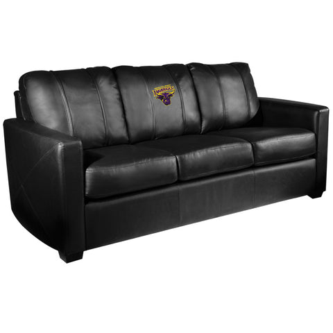 Silver Sofa with Minnesota State Mavericks Logo