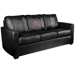 Silver Sofa with St Louis Cardinals Logo
