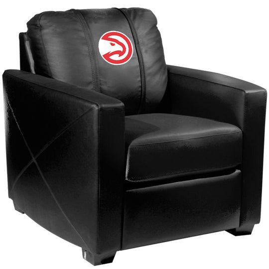 Silver Club Chair with Atlanta Hawks Logo