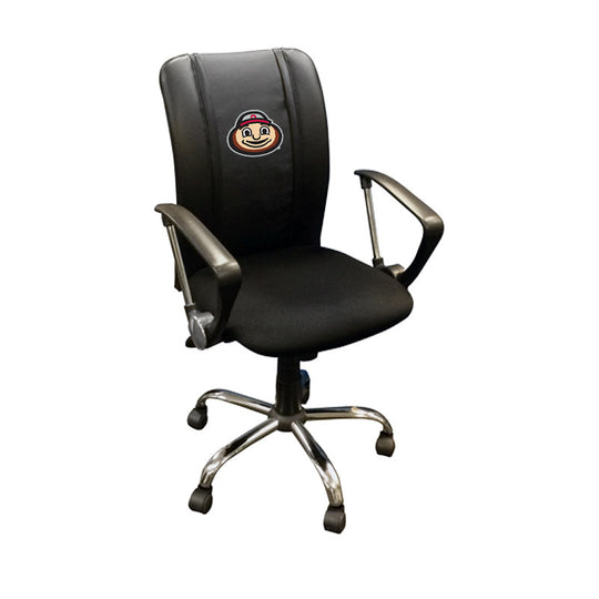 Curve Task Chair with Ohio State Buckeyes BrutusHead Logo