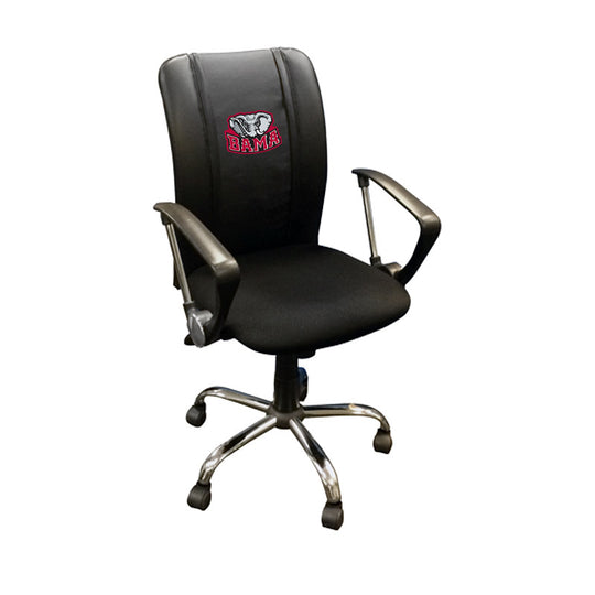Curve Task Chair with Alabama Crimson Tide Bama Logo
