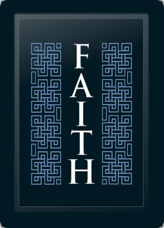 Faith Deco Vertical Blue