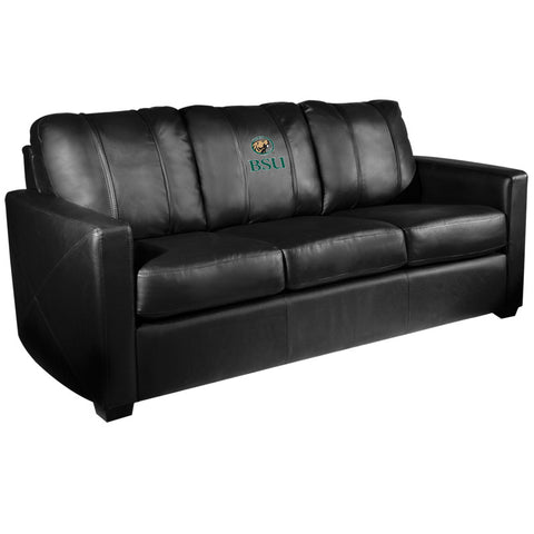 Silver Sofa with Bemidji State Beavers Logo