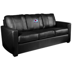Silver Sofa with Colorado Avalanche Logo