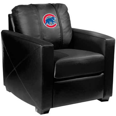 Silver Club Chair with Chicago Cubs Secondary