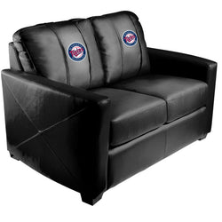 Silver Loveseat with Minnesota Twins Logo
