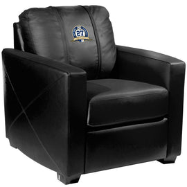 Silver Club Chair with New York Yankees 27th Champ