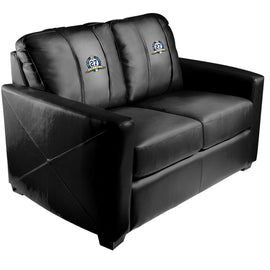 Silver Loveseat with New York Yankees 27th Champ