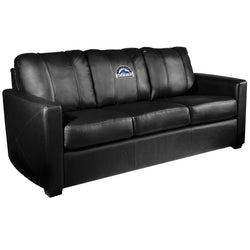 Silver Sofa with Colorado Rockies Logo