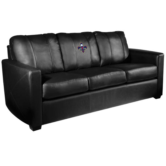 Silver Sofa with New Orleans Pelicans Secondary