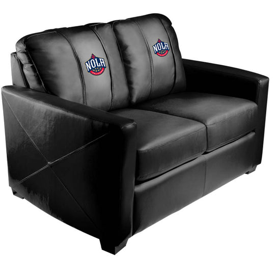 Silver Loveseat with New Orleans Pelicans NOLA
