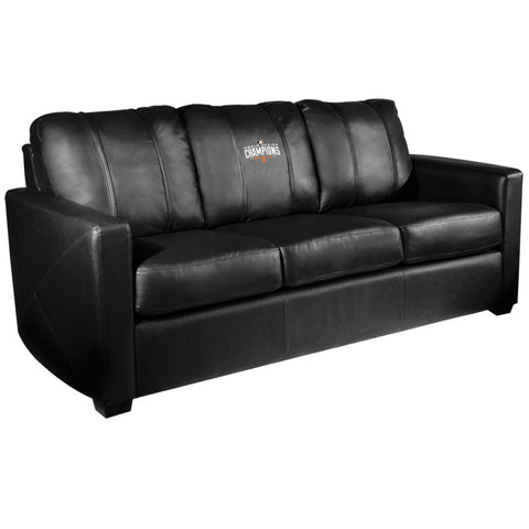 Silver Sofa with San Francisco Giants Champs'14