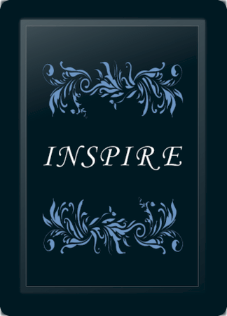 Inspire Floral Horizontal Blue